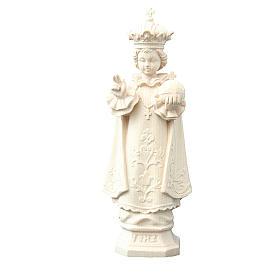 Statue Enfant Jésus de Prague bois naturel Valgardena s1