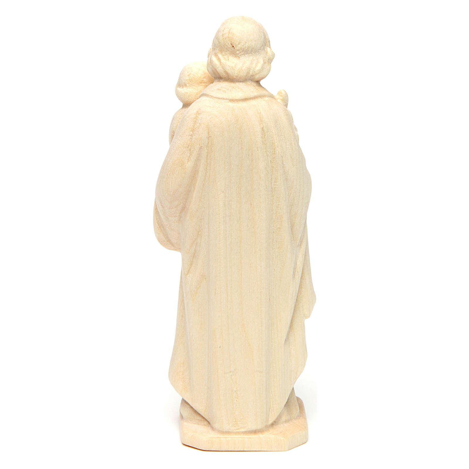 San José con el Niño de madera natural de la Val Gardena 4