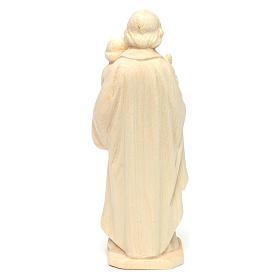 São José com o Menino em madeira natural do Val Gardena s4