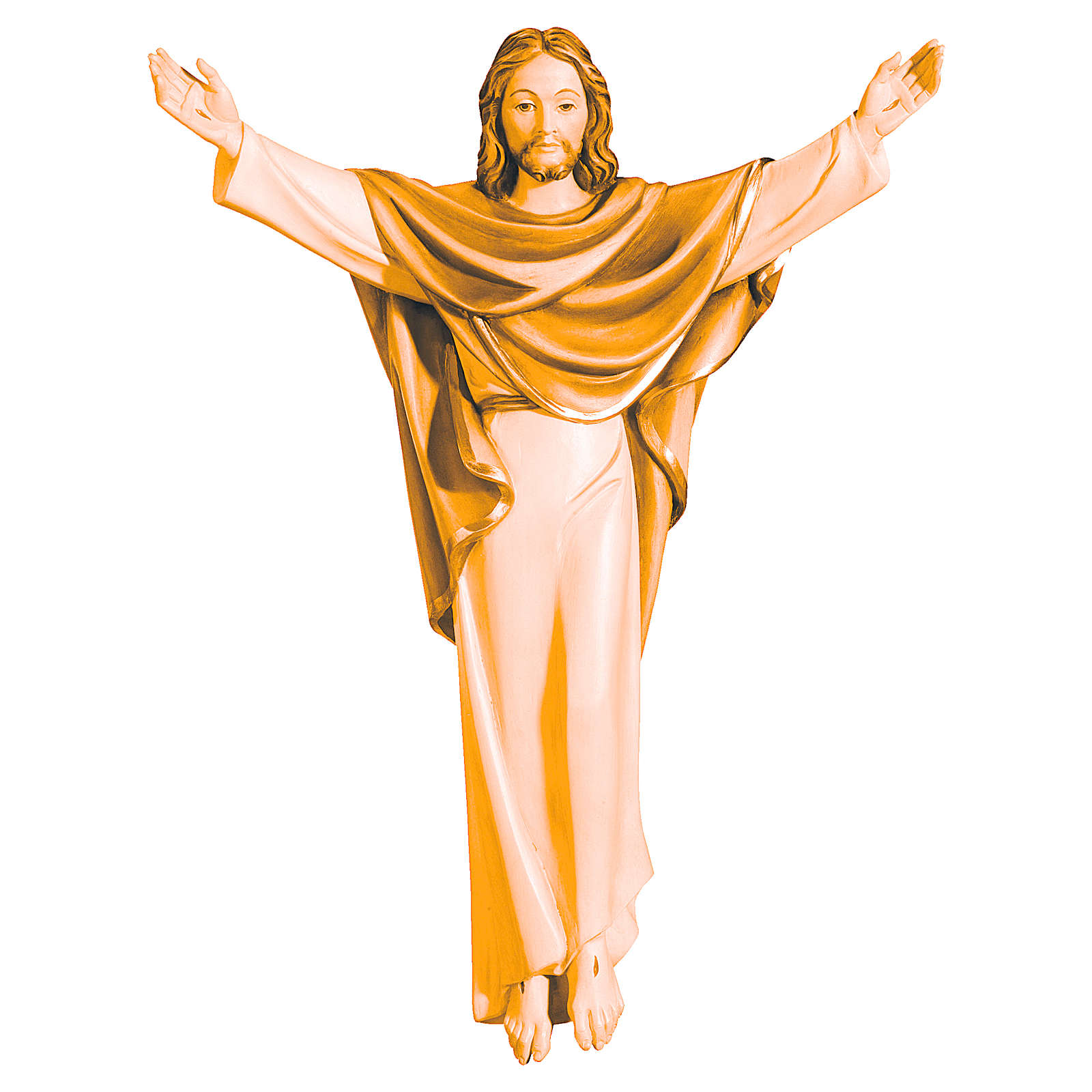 Christ Roi en bois Valgardena couleur brun 4