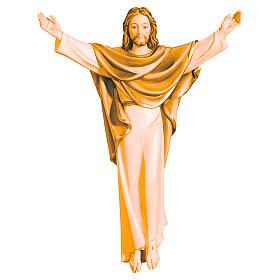 Cristo Re in legno della Val Gardena color marrone s1