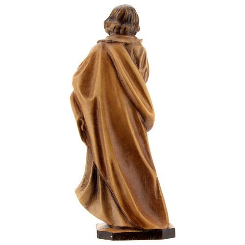 Saint Joseph ouvrier main sur la poitrine bois Valgardena 5