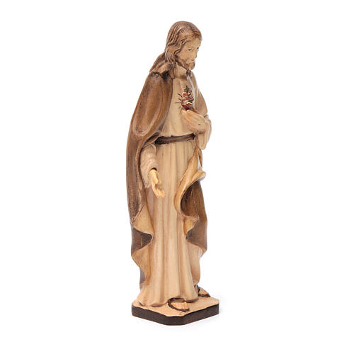Statue Sacred Heart of Jesus Val Gardena wood, brown shades 3
