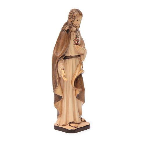 Statue Sacred Heart of Jesus Val Gardena wood, brown shades 3