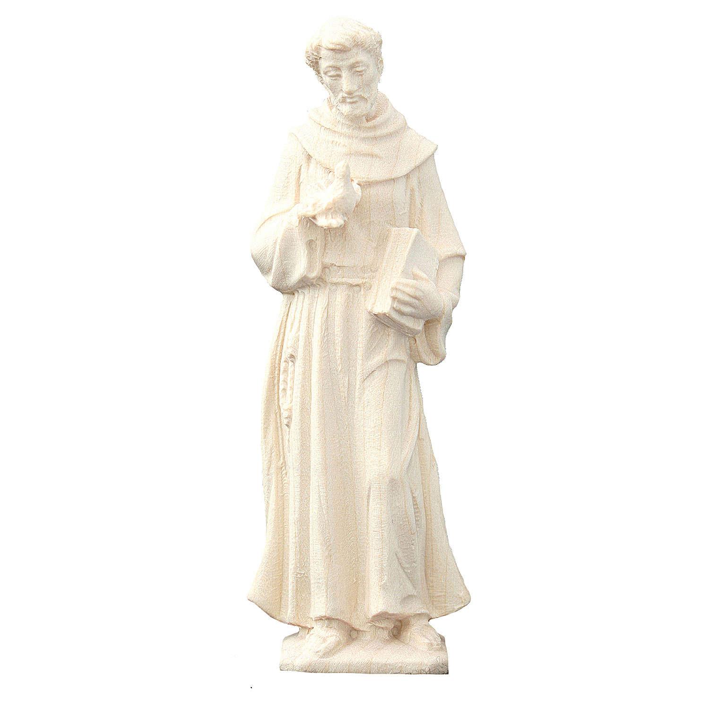 Estatua San Francisco de madera natural de la Val Gardena 4