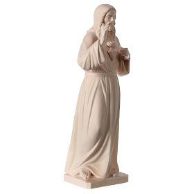 Statue natural wood Val Gardena Sacred Heart of Jesus s4
