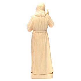 Statua Gesù Benedicente legno naturale della Val Gardena s4