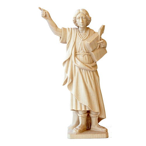 Statue Saint Pancrace en bois naturel Valgardena 1