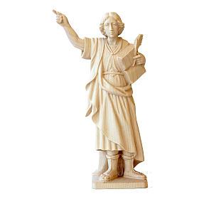 Statua San Pancrazio in legno naturale della Val Gardena s1