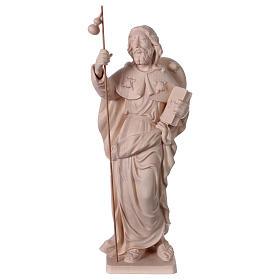 Imágenes de madera natural: Estatua Santiago el Mayor de madera natural de la Val Gardena
