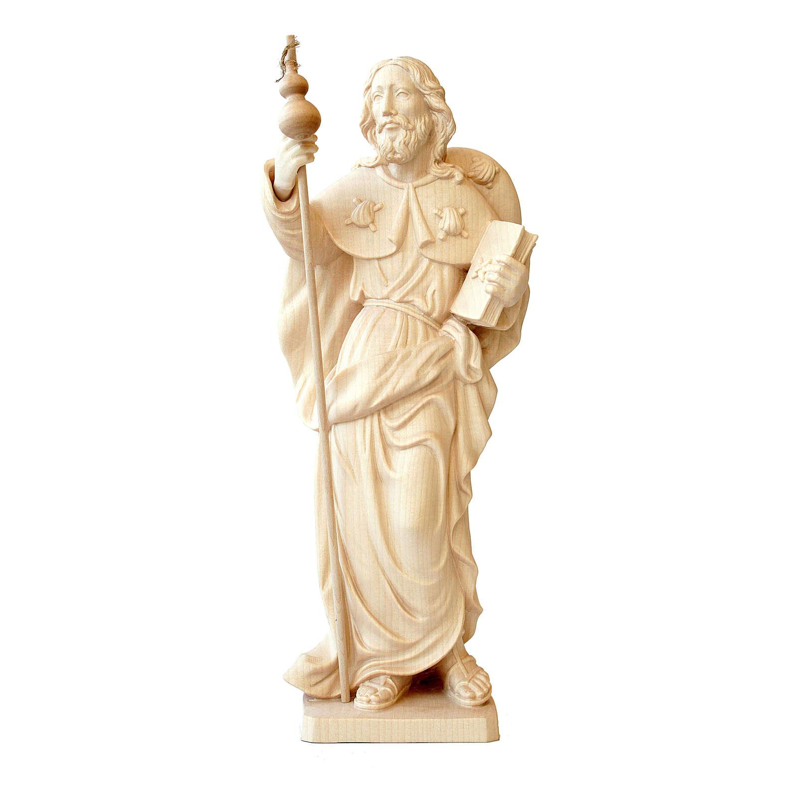 Statua San Jacopo in legno al naturale della Valgardena 4