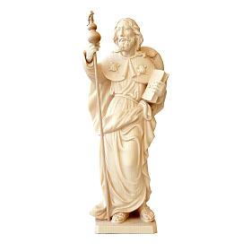 Statua San Jacopo in legno al naturale della Valgardena s1