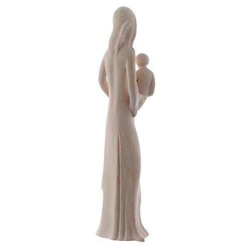 Vierge à l'Enfant et colombe 25 cm bois naturel Valgardena 4