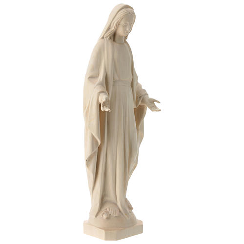 Immaculate Mary statue in natural Val Gardena wood 4
