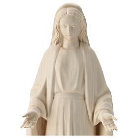 Estatua Virgen Inmaculada de madera natural de la Val Gardena s2