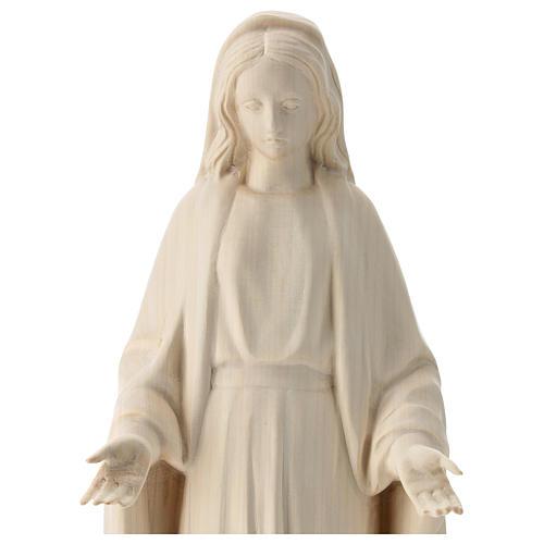 Estatua Virgen Inmaculada de madera natural de la Val Gardena 2