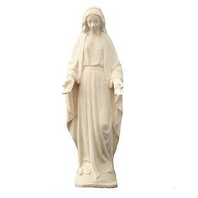 Statua Madonna Immacolata legno Valgardena naturale s1