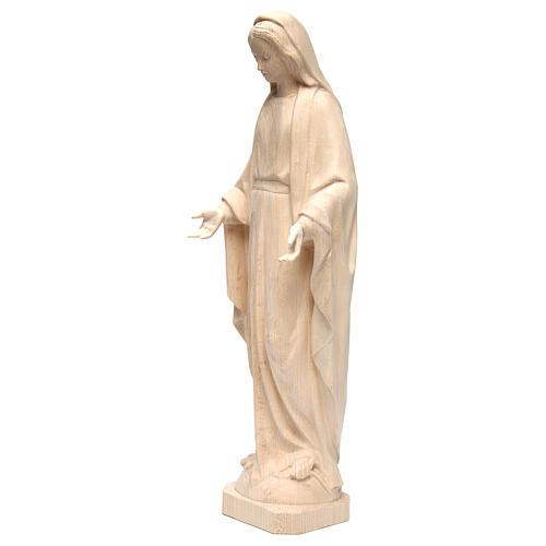 Statua Madonna Immacolata legno Valgardena naturale 3