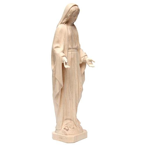 Statua Madonna Immacolata legno Valgardena naturale 4