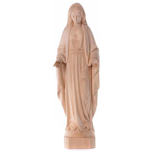 Statua Madonna Immacolata legno Valgardena naturale 1