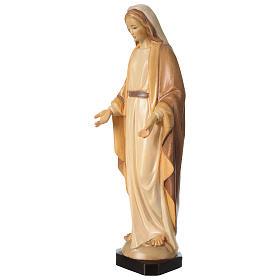 Statua Madonna Immacolata legno Valgardena diverse tonalità marrone s3