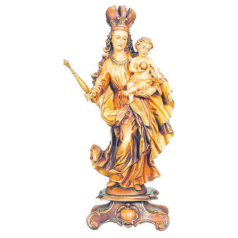 Imagem Nossa Senhora Bawaria madeira bordo tonalidades múltiplas 4