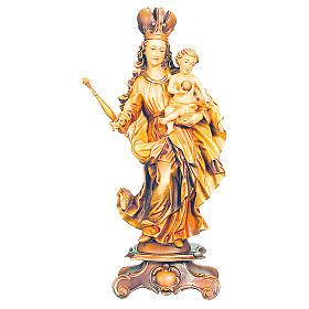 Imagem Nossa Senhora Bawaria madeira bordo tonalidades múltiplas s1