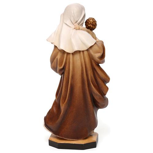 Statua Madonna Reverenza legno Valgardena diverse tonalità marrone 5
