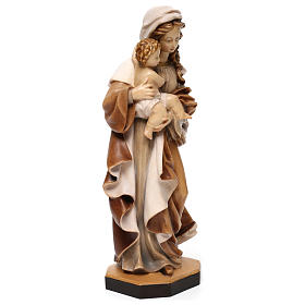 Our Lady of Reverence wooden statue in shades of brown s4