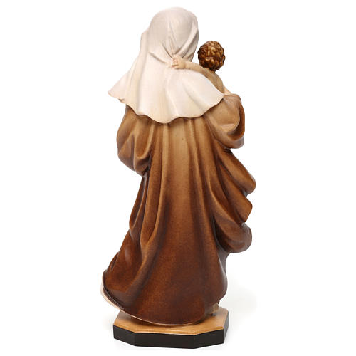 Our Lady of Reverence wooden statue in shades of brown 5