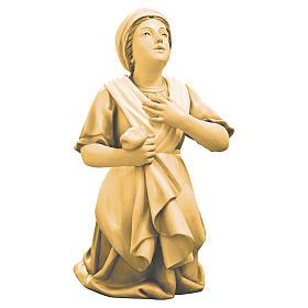 Saint Bernadette statue in maple wood, shades of brown s1