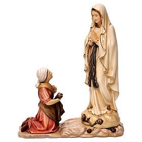 Statue Notre-Dame de Lourdes Bernadette bois Val Gardena différentes tonalités