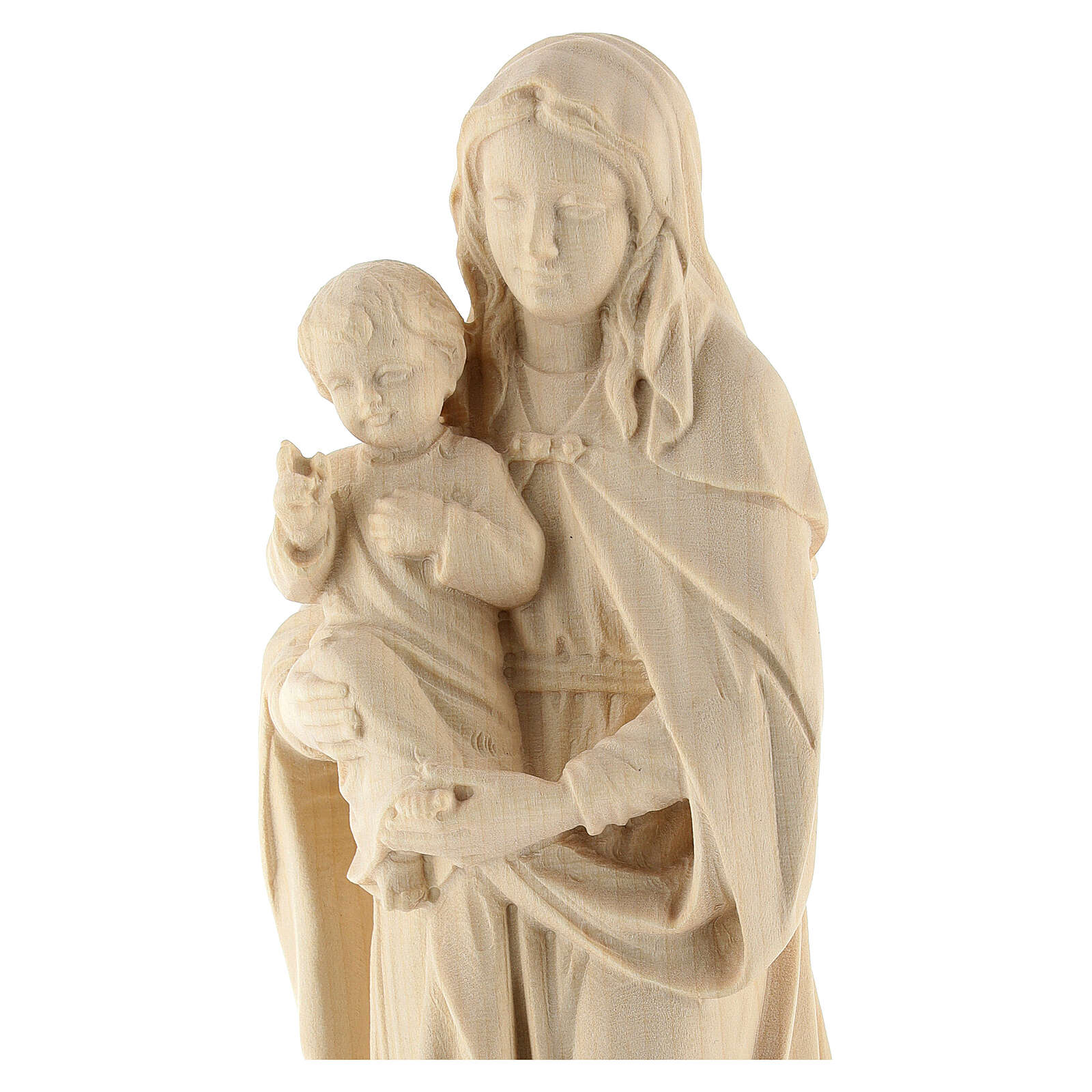 Our Lady and Baby Jesus in natural Val Gardena wood 4