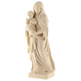 Our Lady and Baby Jesus in natural Val Gardena wood s3