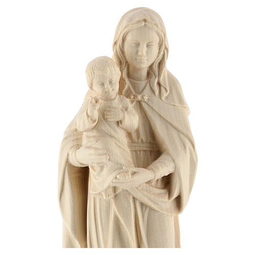 Our Lady and Baby Jesus in natural Val Gardena wood 2