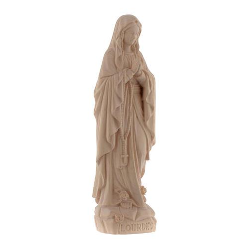 Imagen Virgen de Lourdes de madera natural de la Val Gardena 3