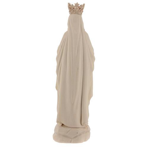 Statua Madonna Lourdes corona Valgardena naturale 6