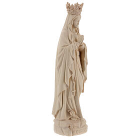 Our Lady of Lourdes with crown in natural Valgardena wood s5