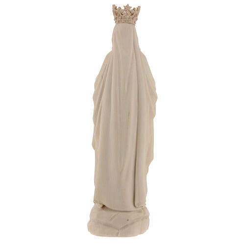 Our Lady of Lourdes with crown in natural Valgardena wood 6