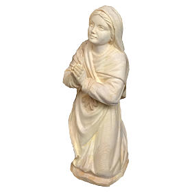 Natural wood statues and figures: Bernadette statue in maple wood