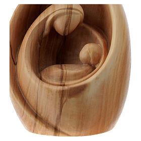 Sacra Famiglia moderna in legno di ulivo al naturale s2