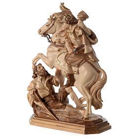 San Martino su cavallo legno brunito 3 colori Valgardena s4