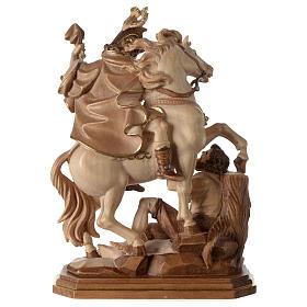 San Martino su cavallo legno brunito 3 colori Valgardena s5