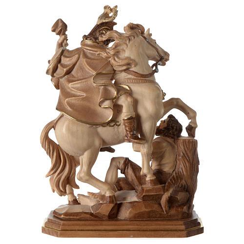 San Martino su cavallo legno brunito 3 colori Valgardena 5