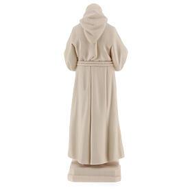 Valgardena statue of Saint Pio in natural wood s5
