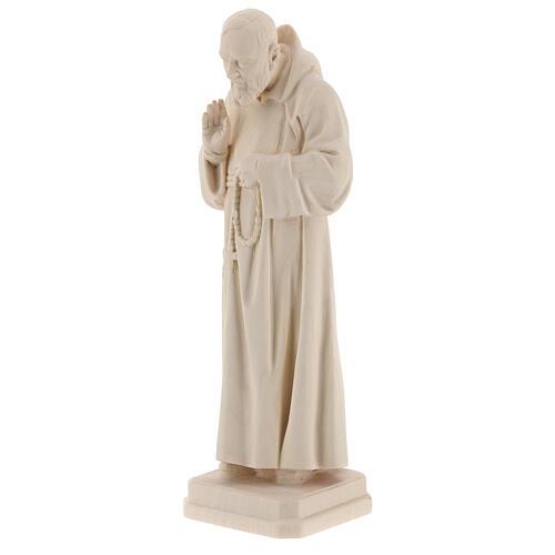 Padre Pío madera natural Val Gardena 3