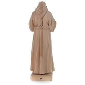 Padre Pio legno naturale Valgardena s5