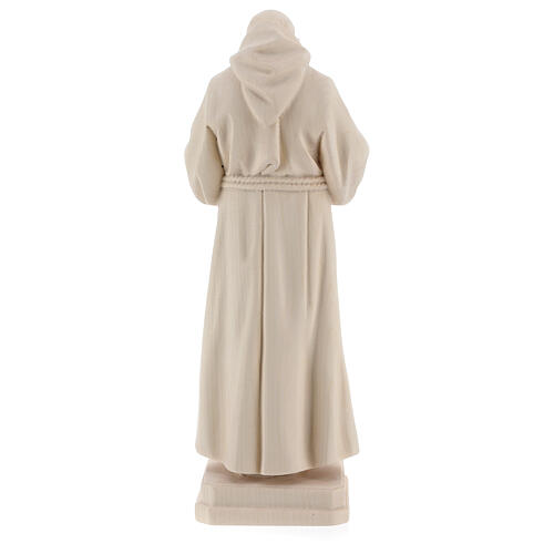 Valgardena statue of Saint Pio in natural wood 5