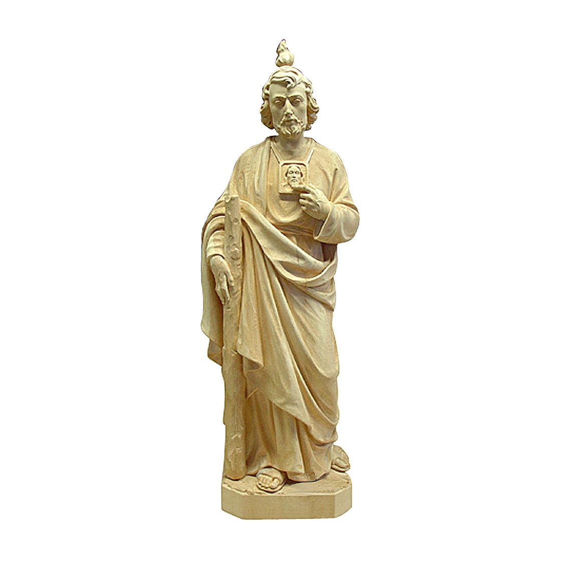 Saint Judas Thaddée bois naturel Val Gardena 4