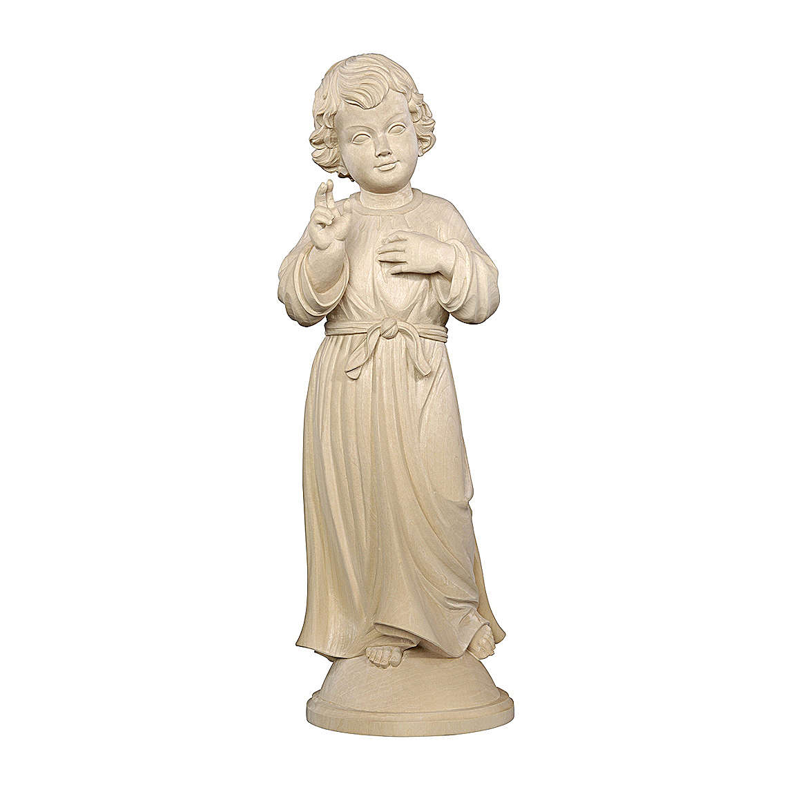 Gesù Adolescente legno naturale Valgardena 4